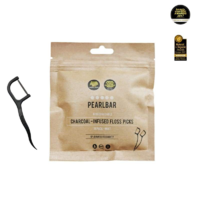 PearlBar Charcoal Infused Floss Picks