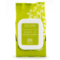 ACURE Fragrance Free Argan Oil Cleansing Towelettes