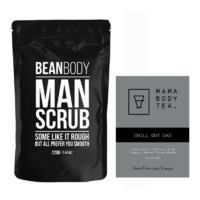 Bean Body Man Scrub & Mama Body Tea Chill Out Dad Tea