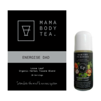 Mama Body Tea Energise Dad Tea & Earths Purities Almafi Coast Natural Liquid  Roll on Deodorant