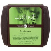 Wotnot Facial Wipes For Oily/Sensitive Skin With Travel Case 25 pk