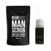 Bean Body Man Scrub & Earths Purities Pure For Him Bicarb Free Deodorant