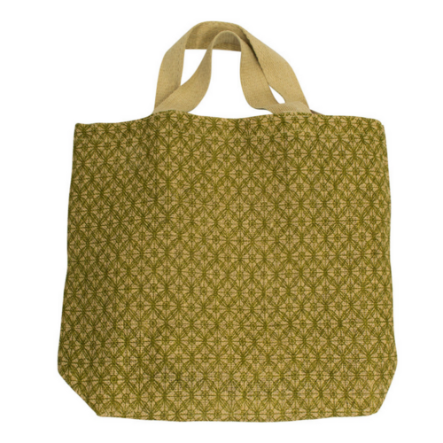 Apple Green Duck The Grocer Lattice Olive Reusable Jute Bag
