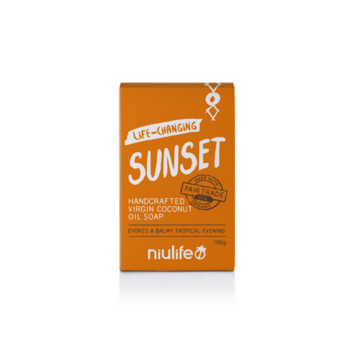 Niulife Certified Organic Virgin Coconut Oil Soap Sunset